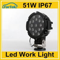 CE RoHS led work light 51W car led headlight tuning light black