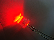 Red 5mm 8mm flat top led emitting diode