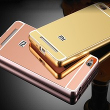Hot selling Luxury electroplated Aluminum mirror phone accessory case for xiaomi redmi 3s prime