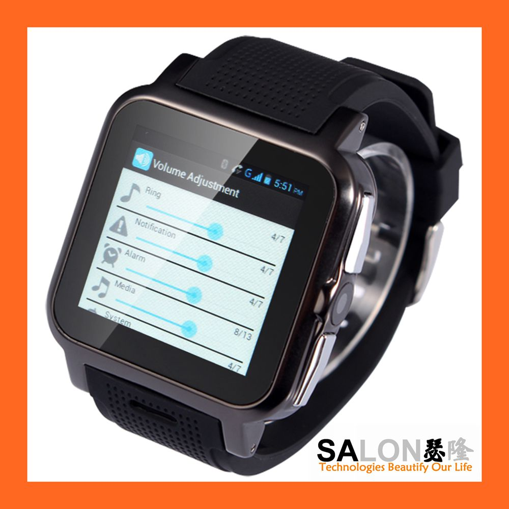 GPS WiFi Google Play Store SIM Android 4.04 Smart 2016 New Wrist Watch Mobile Phone