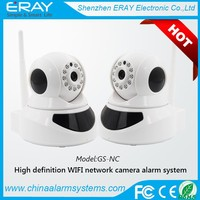 SMS Realay Work Alone Two-way Audio 64 wireless detectors indoor network GSM Video IP camera with WiFi P2P