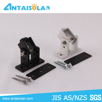 Flat roof adjustable tilt mounting system fixing feet