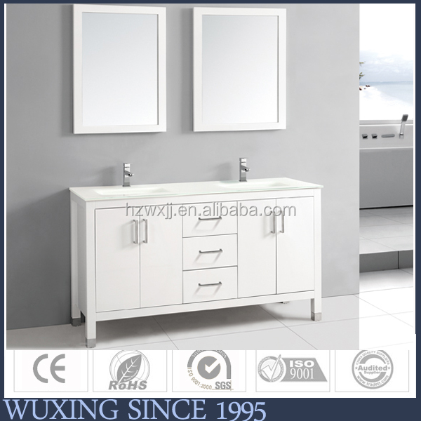 China New Innovative Product , Bathroom Cabinet With Double Sink , Mirror