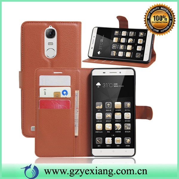 wholesale flip cover folio case for lenovo k5 note leather case with card slots
