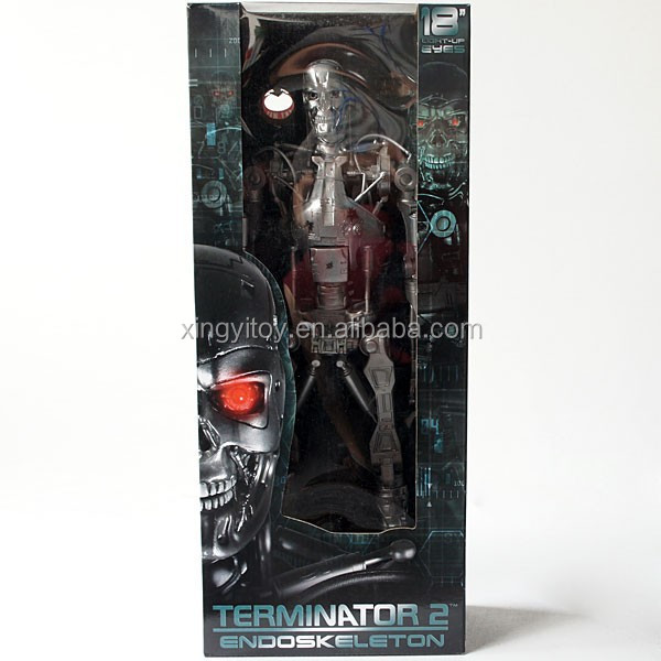Neca the Terminator 2 Endoskeleton Light-Up Eyes 18 inch Judgement Day toy Action Figure