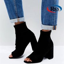 Tennessee Black Stretch Shoe Boots Hot Sex High Heels Sex Fashion Boot