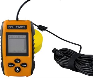 Hot Waterproof Portable Wired Transducer Sonar Fish Finder With Larger Display