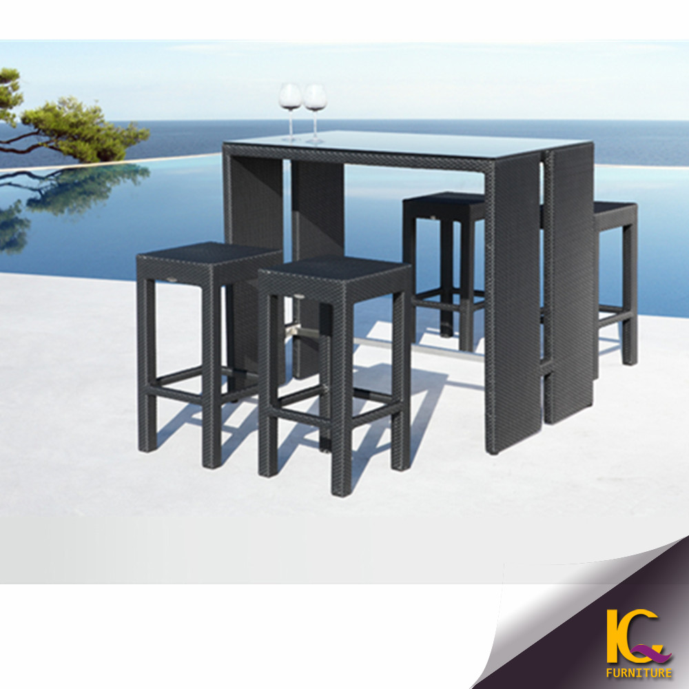 Great feature 2017 wicker new bar furniture table sets