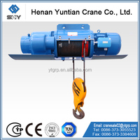 Monorail Travelling Motor Driven Electric Crane Hoist