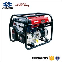 TG3600XL 2.8 kva gas generator set powered by honda