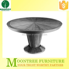 Moontree MDT-1112 furniture supplier restaurant white oak dining table and chairs