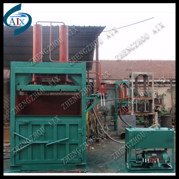 Hay Grass Hydraulic Press Baler Machine/hydraulic hay bale press and waste plastic packing machine