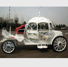 White electric cinderella pumpkin horse carriage for wedding
