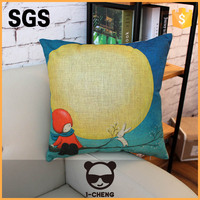 Fashion Colored Drawing Designs Handmade Linen Cushion Pillow