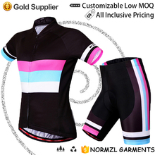 OEM Womens fashion pro specialized cycling bib shorts sexy cycling jersey team wear