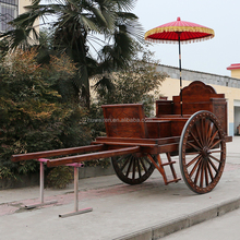 Chinese wooded horse carriage cart sulky with 2 wheels