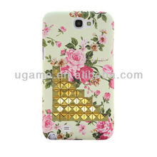 ABS Studded flower case for galaxy note 2