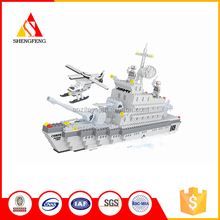 New products high quality building block model warship