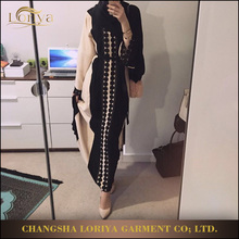 Newest Popular beautiful women maxi dress indonesia lace jubah abaya baju kurung fashion 2017