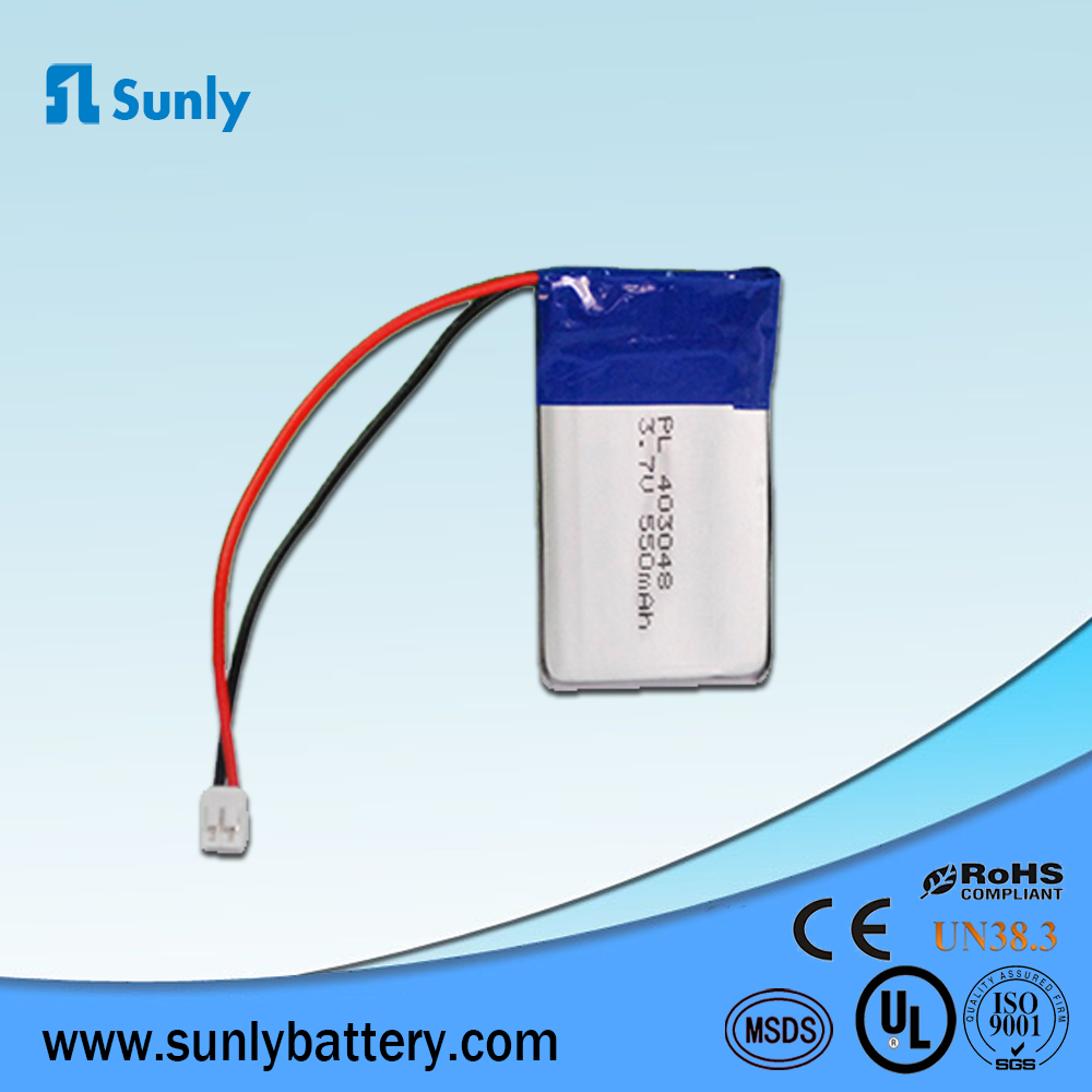 lipo battery technology, 3.7v lithium ion rechargeable 550mah 403048