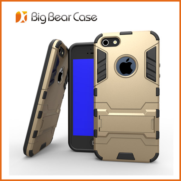 TPU PC kickstand mobile phone case for iphone 5c back cover