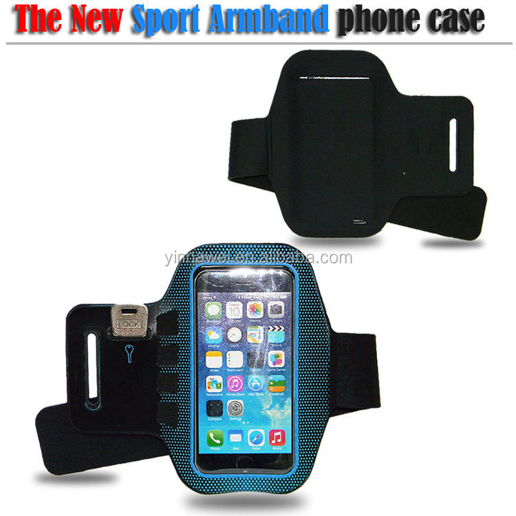 high quality custom captain armband with velcro, for Cell phone armband