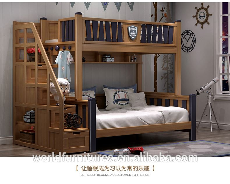 Bunk bed high quality enviornmental furniture boy single and double bed