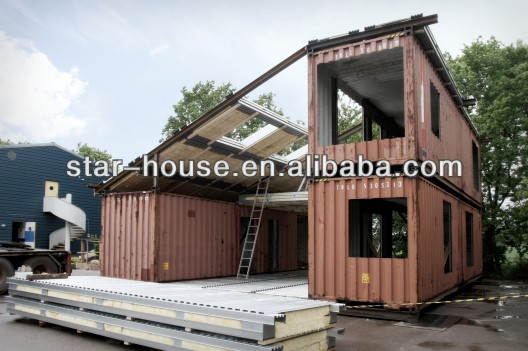 prefab light steel structure container office