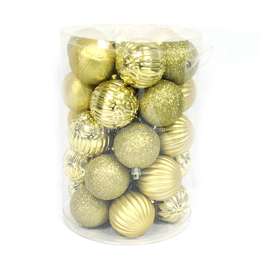 Plastic molded outdoor christmas ball decoration