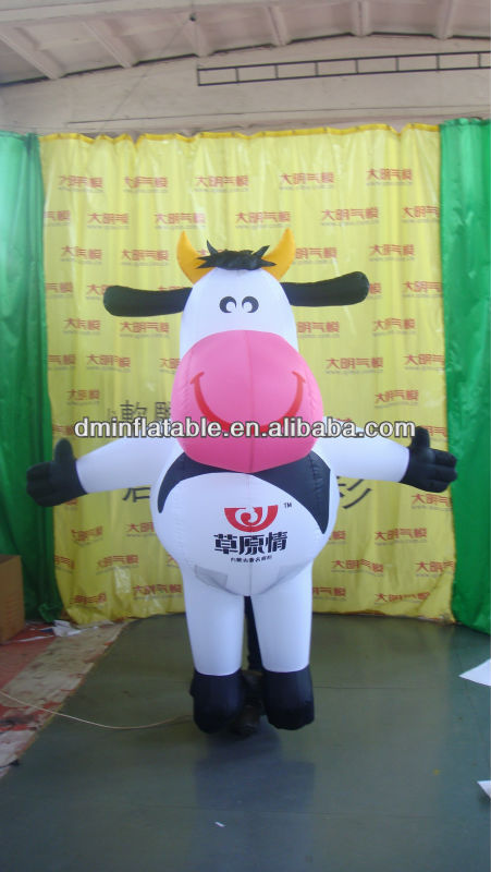 So cute advertising inflatable mike cow for sale