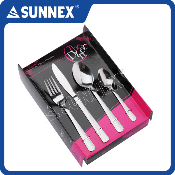SUNNEX Hot Sale Cutlery Set Gift Set Spoon And Fork Set