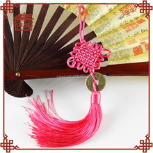 Chinese traditional handicraft, elegant wedding gift, pink Chinese knot