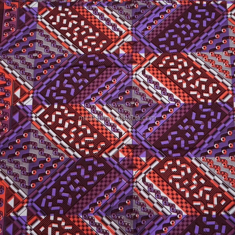 Popular Holland Dutch Wax Fabric African Clothing Patterns Cotton Wax Printed Fabric For Lady