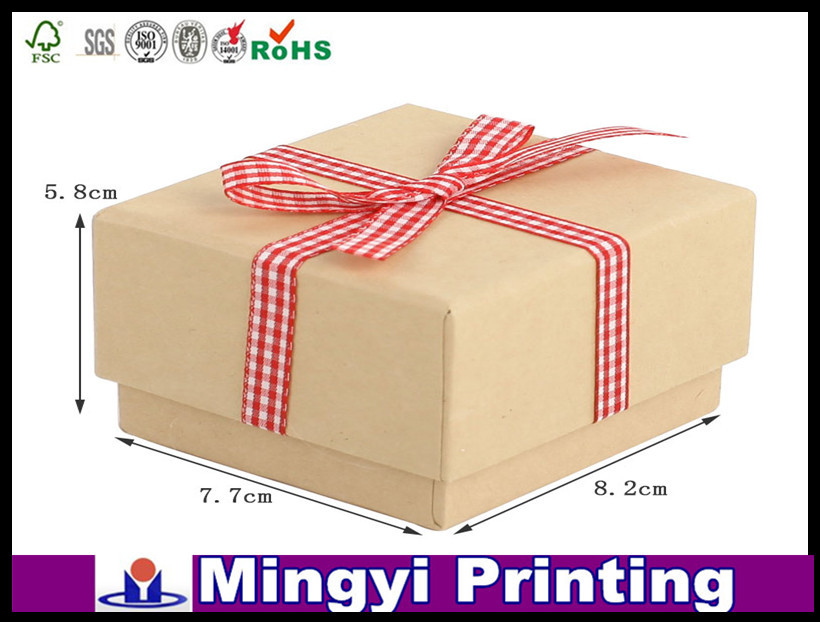 customized cream gift boxes with ribbon