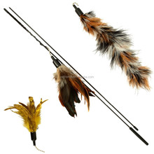 2016 luxury feather wand for cats(include two additonal refills) feather teaser