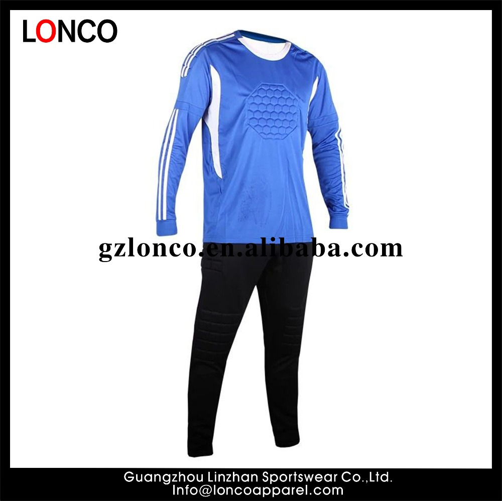 Custom high quality padded sublimation Custom design goalkeeper soccer jersey ,goalkeeper uniform suit custom