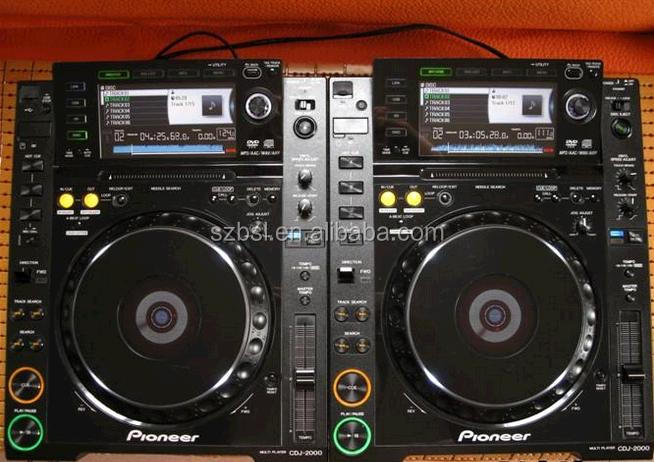DJ Digital Media Player and Controller CDJ-2000NXS NEXUS DIGITAL DJ TURNTABLE, BLACK w/ETHERNET& POWER CABLE