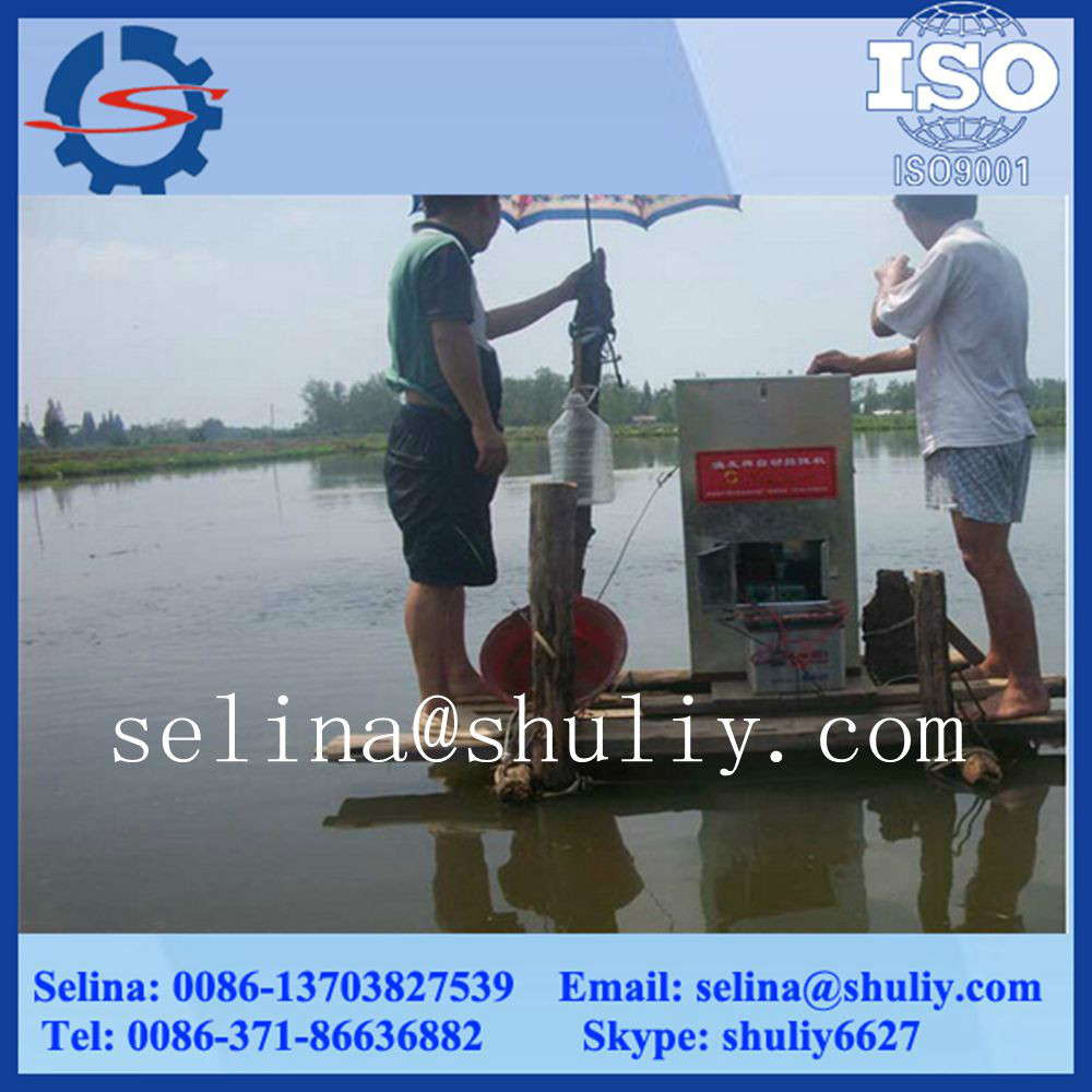 Bait casting quantity can be adjusted fish feeder