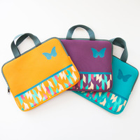 Neoprene handles colorful laptop bags