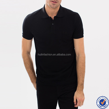 New Men Summer Stylish T-Shirt Classic Black Breathable Polo Shirt