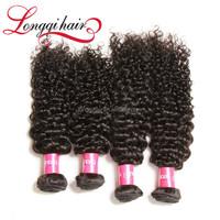 100% Unprocessed Wholesale Human Hair Black Natural Color Jerry Curl Virgin Brazilian Hair Extension