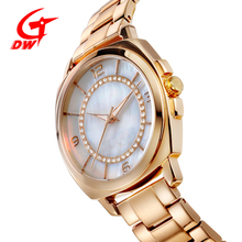 2018 style women branded stainless steel watch with IP plating