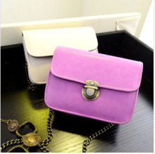 C88428A new fashion lady candy colors mini chain shoulder bags