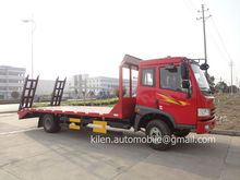 FAW 4x2 190hp low bed truck/ flat bed tow trucks