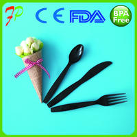 Airline Disposable Plastic Cutlery Sets/biodegradable travel cutlery sets/plastic spoon fork and knife