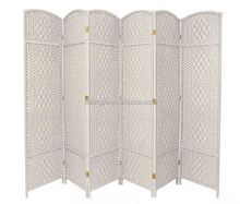 Beauty Handmade Paper Rope Room Panels Changing Lows Room Partition