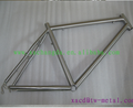 ti mtb bike frame titanium mtb bike frame with hand brush finished chinese made titanium bike frame