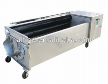 Super quality steel roller grinding vegetable peeling and washing machine for peeling pumpkin