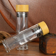 The sports water bottle ,the glass drinking water bottle with bamboo lid ,the infuser bamboo glass bottle