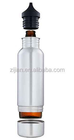 Keeps your bottle COLD,Insulated beer keeper,Stainless steel beer holder